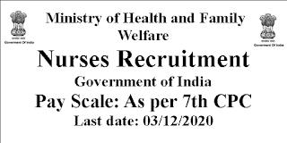 M.Sc Nursing jobs- Central Government -India