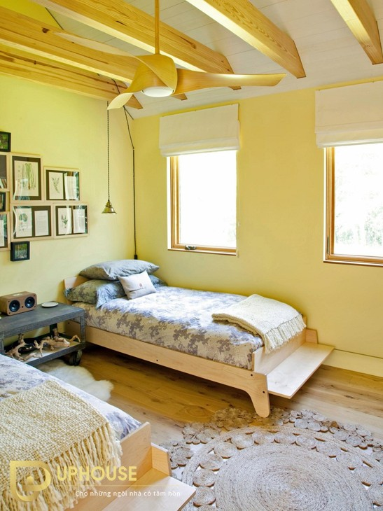 Phòng ngủ màu vàng kem 07