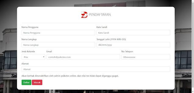 Aplikasi Psikotes Online Berbasis WEB dengan PHP MySQL