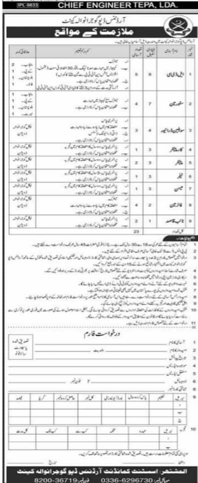 Jobs in Pakistan Army Civilian Nov 2020