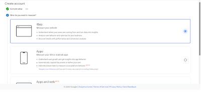 create google analytics