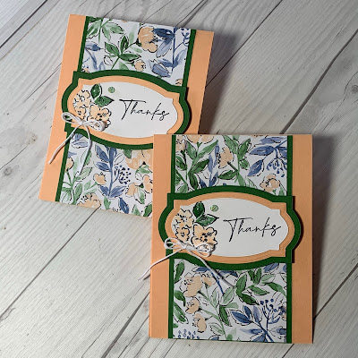 Thank You card using Stampin' Up! Hand-Penned Petals Stamp Set