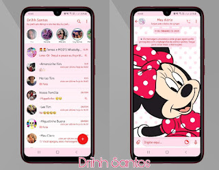 Minnie Cute Theme For YOWhatsApp & Fouad WhatsApp By Driih Santos