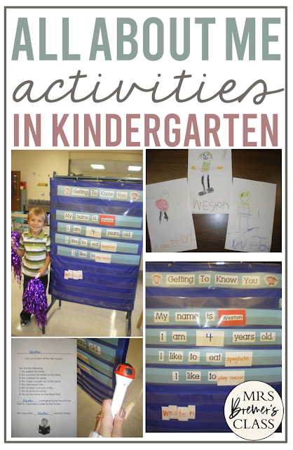 All About Me getting to know you back to school activity for Kindergarten