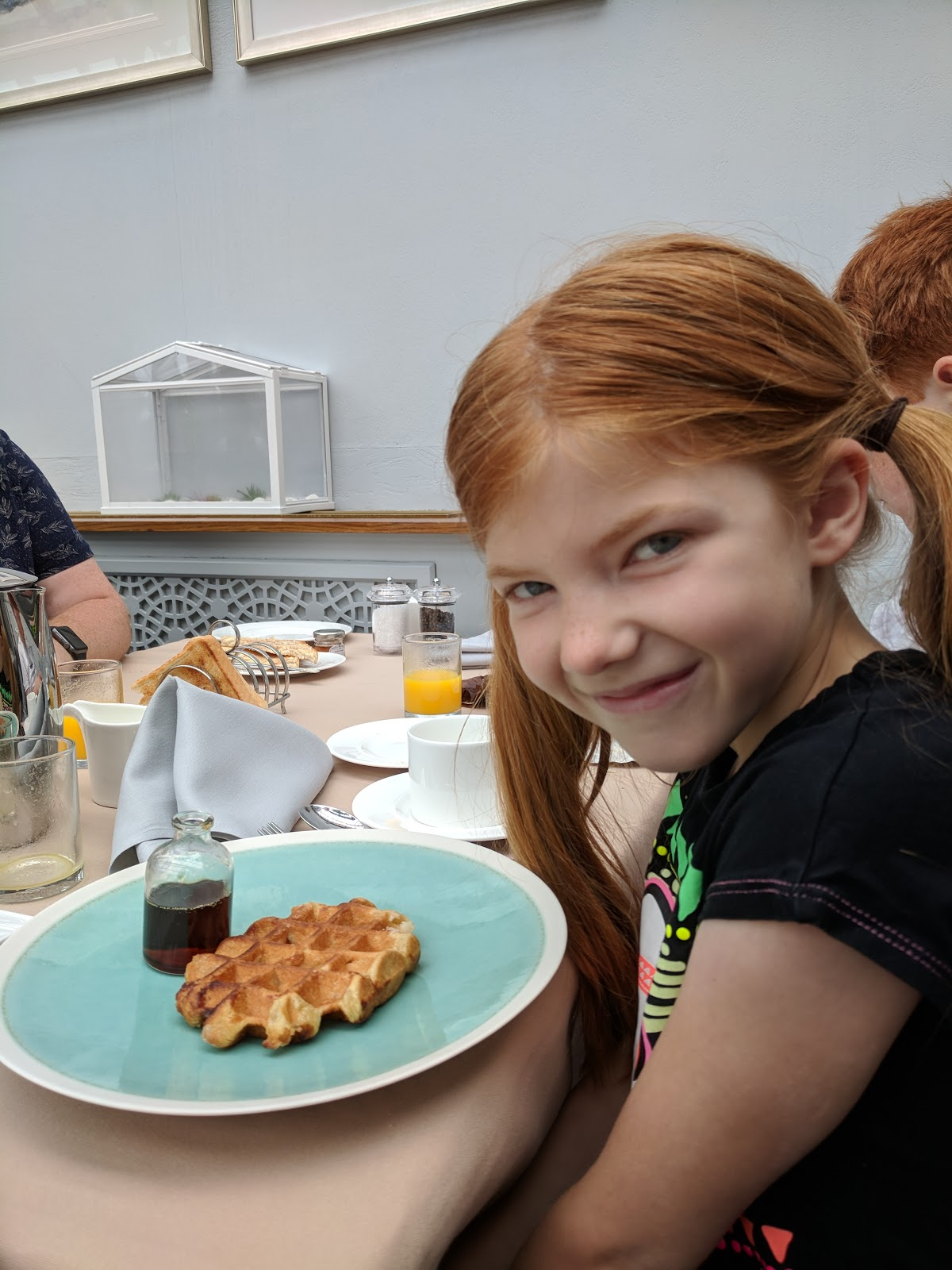 A Luxury Family Staycation at Rockliffe Hall Hotel  - breakfast waffles