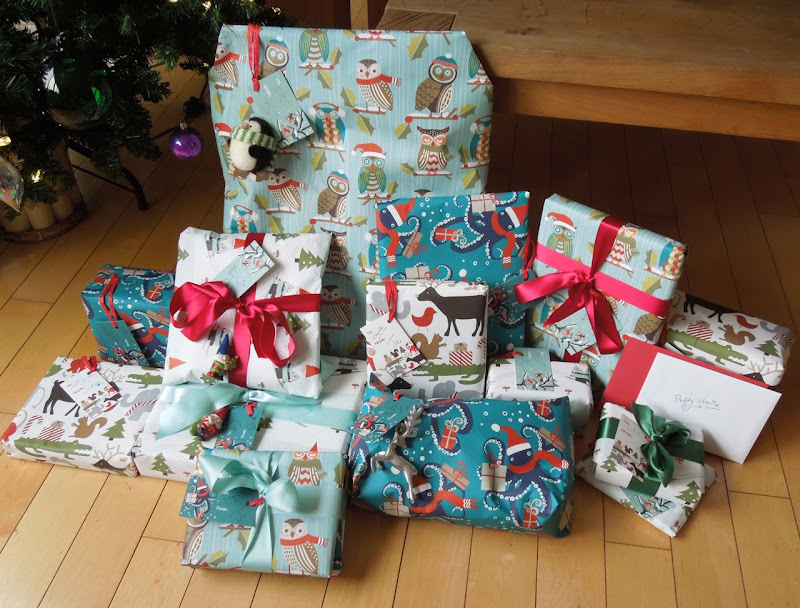 Gift wrapped Christmas presents