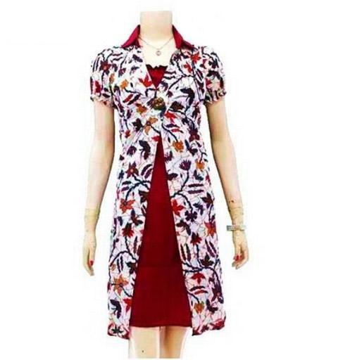Contoh Model Baju Batik Modern untuk Kerja
