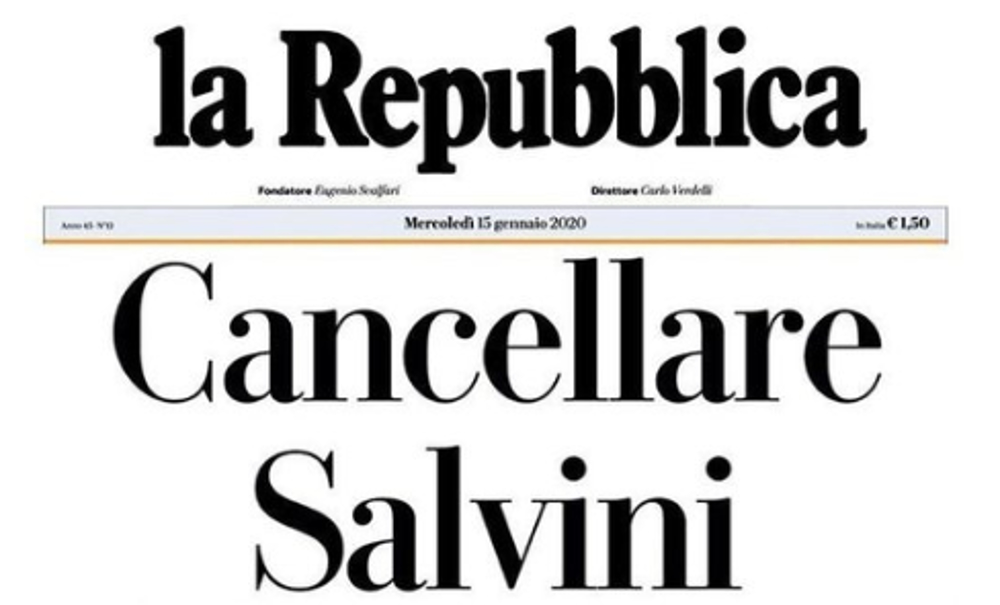 Sardine, Salvini prende in giro un manifestante dislessico