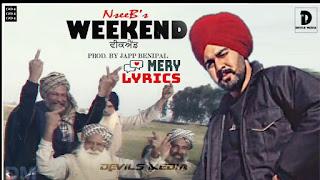 Weekend By Nseeb - Lyrics