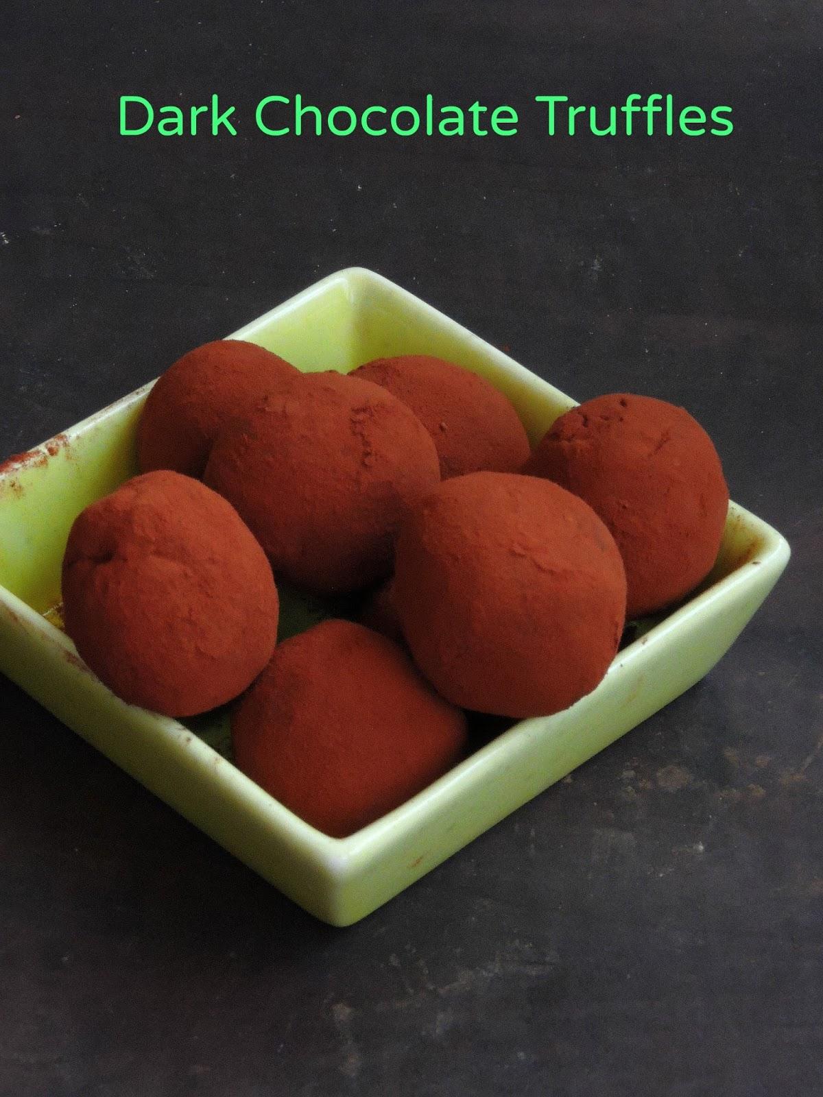 Homemade Dark Chocolate Truffles | Cook N Click