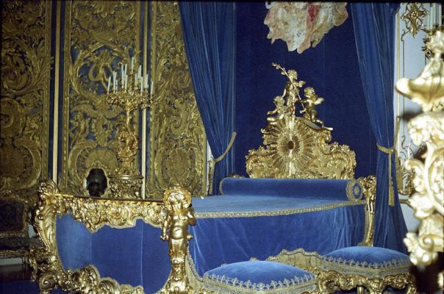 Gabinete Lilás e Quarto de Dormir no Palácio de Linderhof em Munique