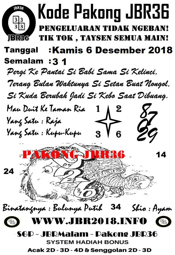Forum Kode Syair SGP Kamis 6 Desember 2018 - GOsyair SEDIA