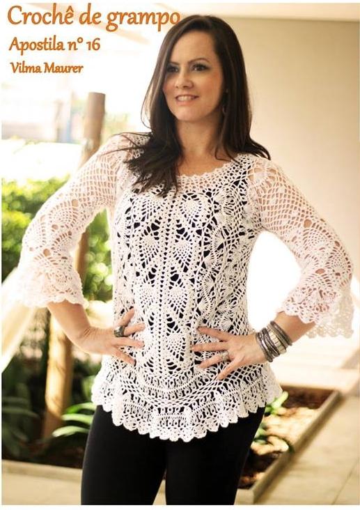 Katia Ribeiro Crochê Moda e Decoração - Crochê com Gráficos . d5256ff3505
