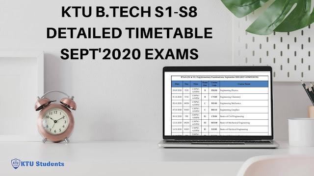 ktu timetable 2020