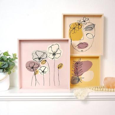 Easy DIY Modern Wall Art Acrylic Paintings