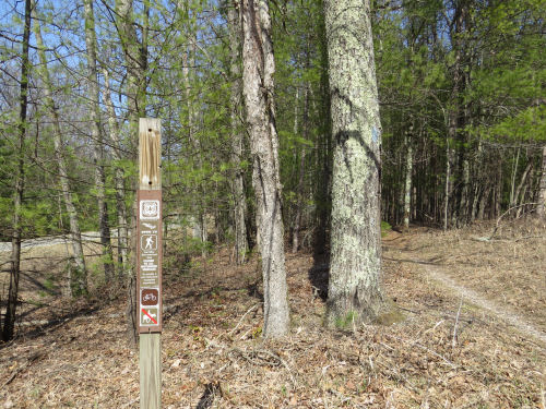 trail sign with missing emblem