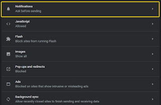 Cara Memblokir permintaan notifikasi di Google Chrome