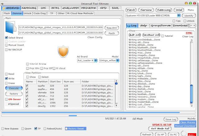 Perbaikan Redmi Note 8 (Gingko)-Hang Logo-Bootloop-Mati Total Selesai