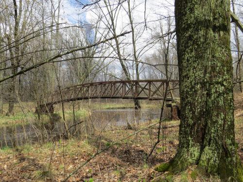 foot bridge over White River