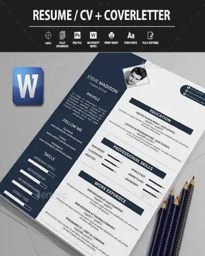 download cv lamaran kerja word