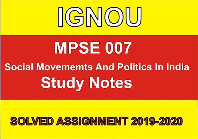 MPSE 007 Study Notes