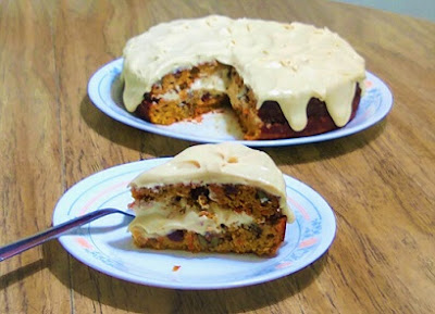 A messy piece of the Cassava Carrot-Orange Cake with a Best Keto Vegan Frosting (Paleo, Gut-Health, Dairy-Free, Refined Sugar-Free,, Gluten-Free) 3.jpg