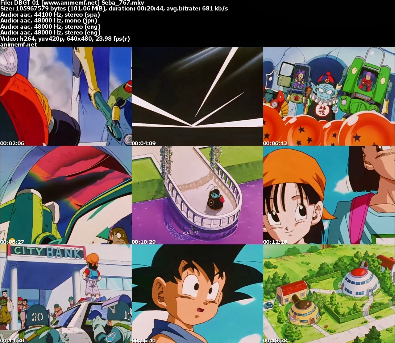 Dragon Ball GT 64/64 Trial Audio MEGA,goku