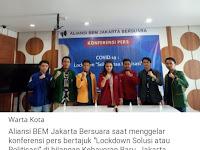 "Tampil ""Modis"", Aliansi BEM Jakarta Kritik Kinerja Gubernur DKI Tangani Covid-19: Netizen Bereaksi"