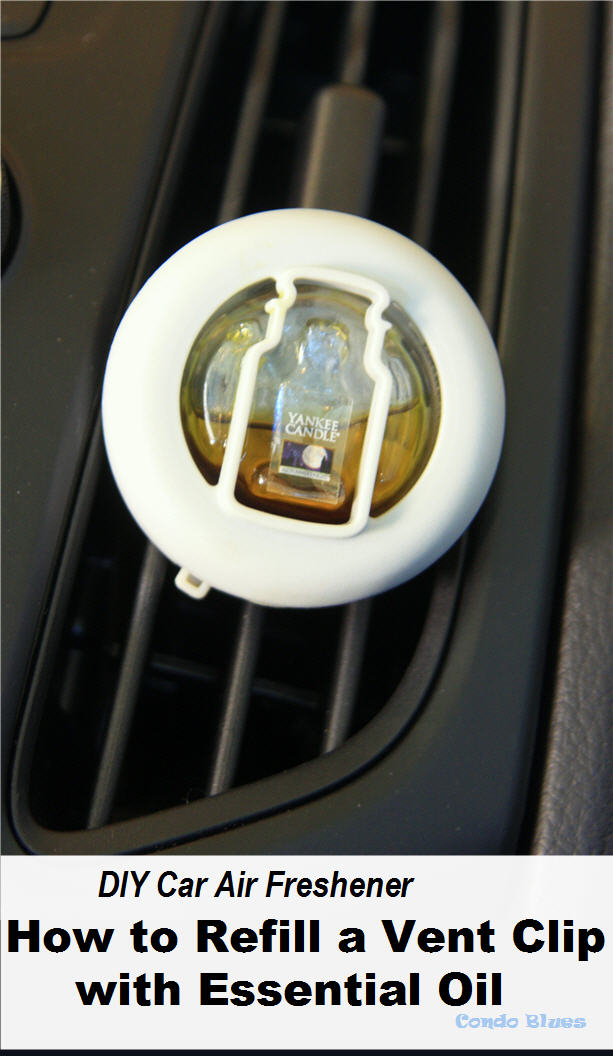 DIY Car Air Freshener How to Refill a Vent Clip with Essential Oil