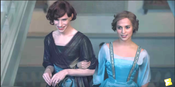 A garota dinamarquesa, danish girl, Gerda (Alicia Vijander), vestido azul, figurino, cena filme