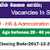Vacancies In Sri Lanka   Post Of - HR & Administration Executive