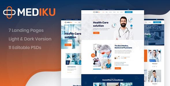 Healthcare PSD Template