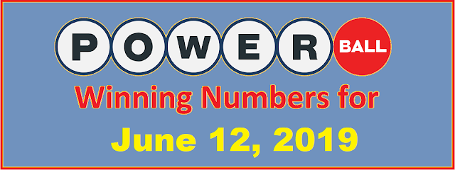 PowerBall Winning Numbers for Wednesday, June 12, 2019