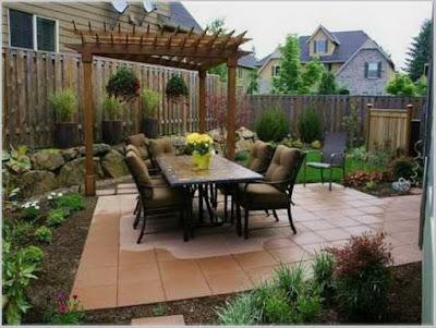 taman belakang rumah minimalis modern terbaru