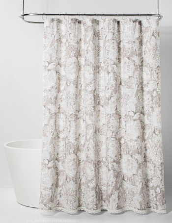 Jacobean shower curtain