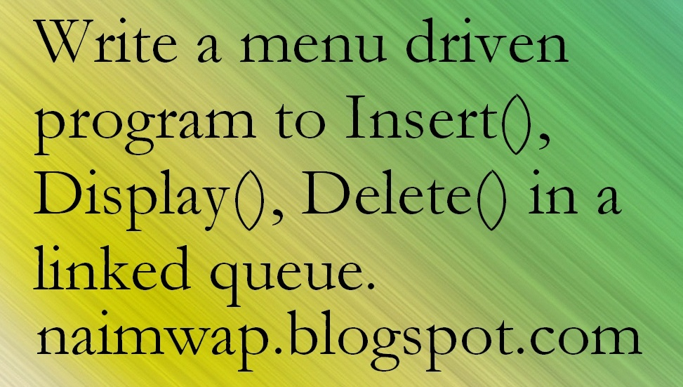 write a program for insertion and deletion in queue