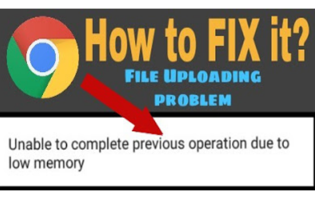 How to fix unable to complete previous operation due to low memory?