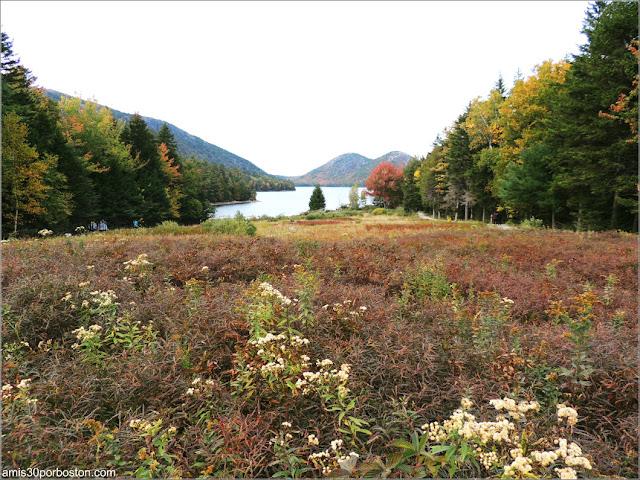Jordan Pond en el Parque Nacional de Acadia en Maine