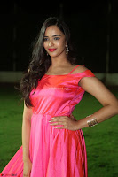 Actress Pujita Ponnada in beautiful red dress at Darshakudu music launch ~ Celebrities Galleries 049.JPG