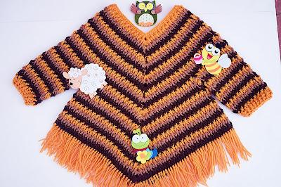 5 - Crochet Imagen Poncho otoñal a crochet y ganchillo por Majovel Crochet