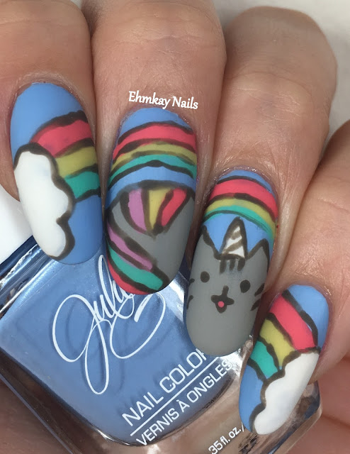 Ehmkay Nails New Year S Eve Nail Art With Kbshimmer Bling: Ehmkay Nails: Pusheen Calender Series: April 2017