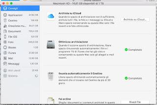Archiviazione Ottimizzata Mac
