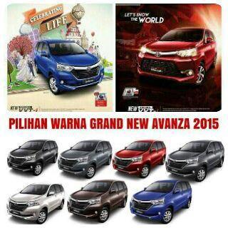 Pilihan Warna Grand New Avanza 2015 Jual Spoiler Toyota Terbaru Dealer Samarinda Harga Dan Promo Kredit