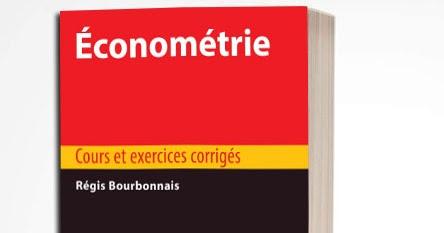 économétrie cours et exercices corrigés PDF