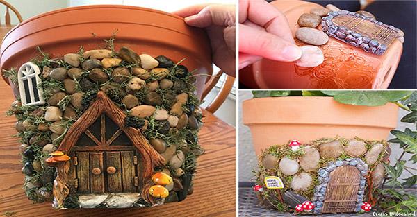 Ideas Products Whimsical Diy Fairy House Planter