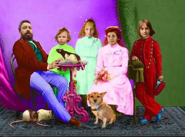 rodzinny portret vintage na zamówienie