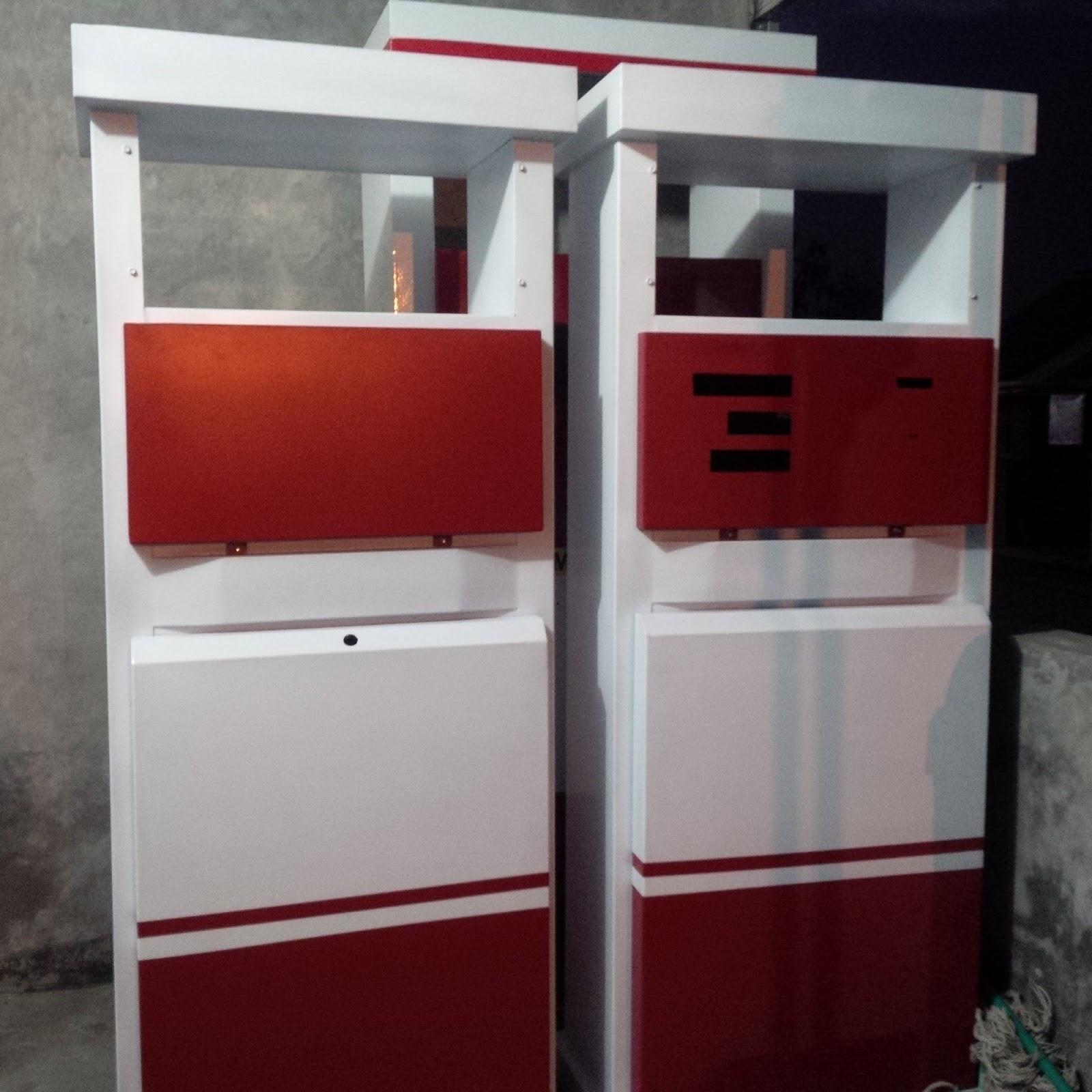 Update Harga Casing Rangka Box Mesin Pom Pertamini Digital Murah Cashing  Terbaik Mini Izin Bensin