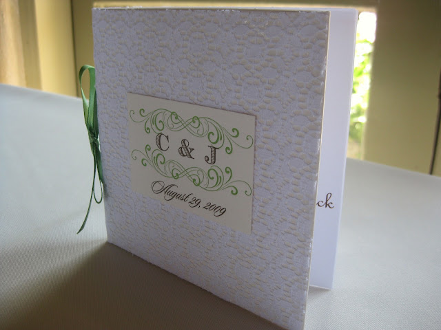 DIY programs and CD favors combo by Oh Lovely Day