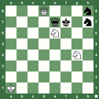 Chess Magazine Black and White: chess puzzle