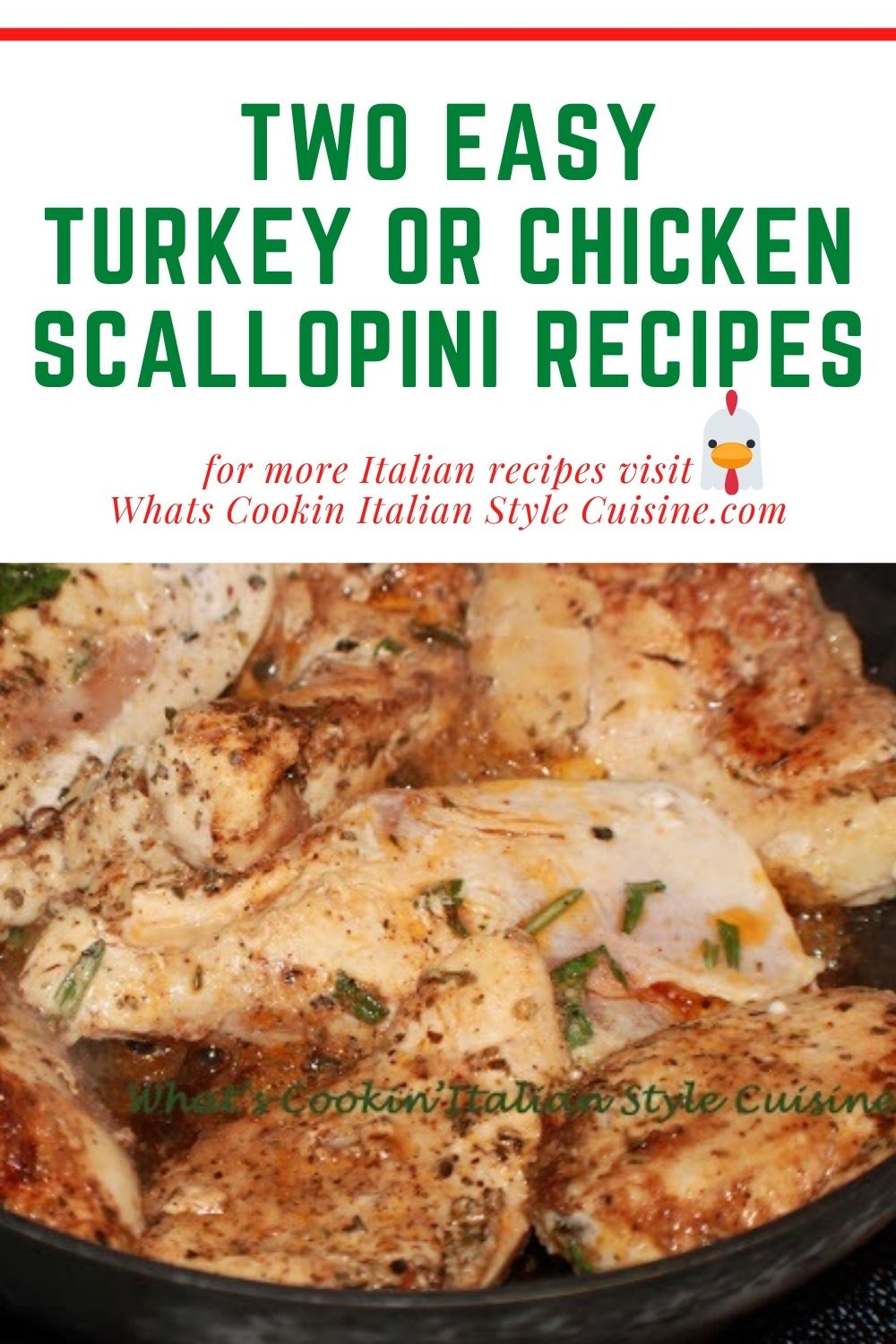this is how to make scallopini with chicken or turkey pin for later